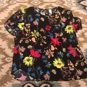 H&M Floral Blouse Size 16
